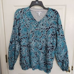 Croft & Barrow Vneck Pullover Sweater Size 2X